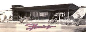 Bugsy Siegel - Bugsy's original Flamingo Hotel and Casino in Las Vegas, 1947.