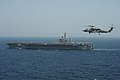 Flickr - Official U.S. Navy Imagery - A Sea Hawk heliccopter above USS Dwight D. Eisenhower..jpg
