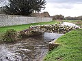 Flint footbridge over the River Lavant - geograph.org.uk - 425147.jpg