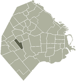 Location of Floresta within Buenos Aires