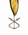 Flottans distinktionstecken, det s.k. Hoglandstecknet, lägre graden, Sverige 1789 - Livrustkammaren - 73210.tif