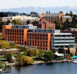 UW Bioengineering - The William H. Foege Building on Seattle's Portage Bay