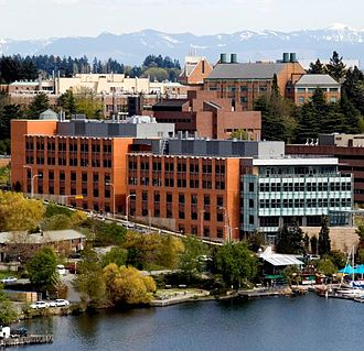 UW Bioengineering - The William H. Foege Building on Seattle's Portage Bay