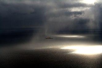 Baffin Bay - Fog over Baffin Bay