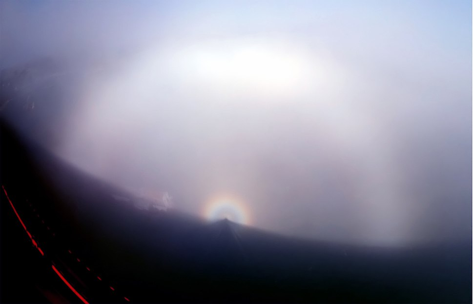 Fogbow spectre and glory filtered