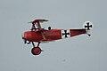 Fokker Dr.I Manfred Richthofen Pass two 07 Dawn Patrol NMUSAF 26Sept09 (14576877906).jpg