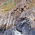 Folded and fractured strata , Gwadn Cove, Solva - geograph.org.uk - 1524370.jpg