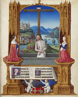 Folio 75r - The Man of Sorrows