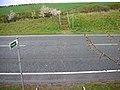 Footpath crosses road - geograph.org.uk - 225154.jpg