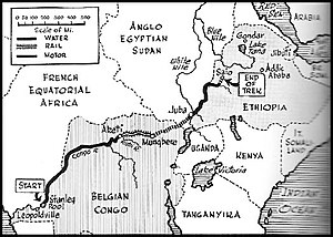 Siege of Saïo - Map of the Belgo-Congolese expedition to Ethiopia