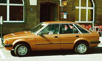 Notchback - Ford Escort Mark III 5-door hatchback 1980–1986