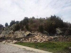 Fort Wetherill - Fort Dumpling site in 2017.