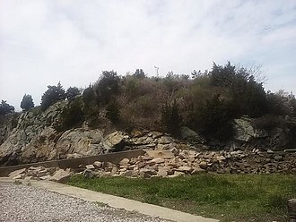 Fort Wetherill - Fort Dumpling site in 2017.