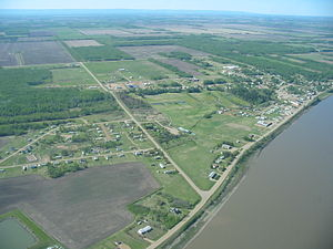 Fort Vermilion - Aerial view from north