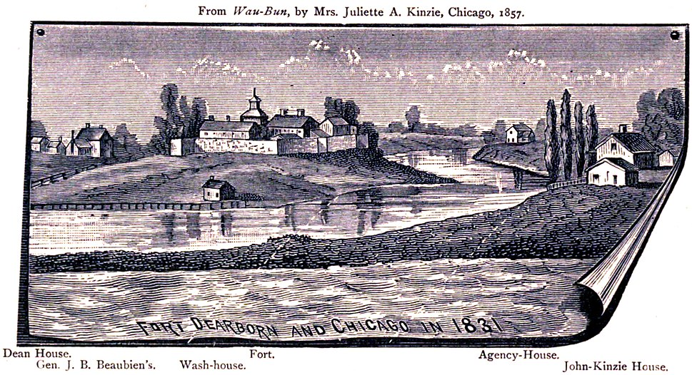 Fort Dearborn & Chicago in 1831