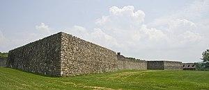 Fort Frederick State Park - Image: Fort Frederick walls