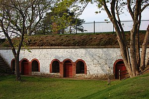 Fort Sewall - The underground stockade of Fort Sewall, with surrounding parklands