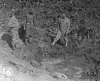 Fort Stevens shell crater,1942.jpg