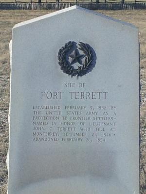 Fort Terrett, Texas - Fort Terrett Historical Marker