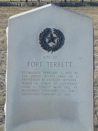 Fort Terrett, Texas - Fort Terrett Historical Marker