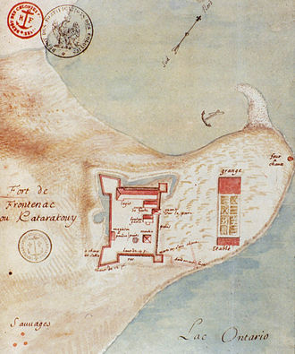 Fort Frontenac - Plan of Fort Frontenac from 1685.