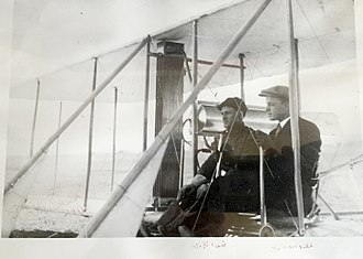 Benjamin Foulois - Lt. Benjamin Foulois and his instructor pilot Phillip Parmelee, 1910