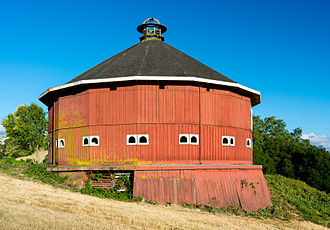 Santa Rosa, California - The former historic Fountaingrove Round Barn, previously found at the southwestern base of Fountaingrove, was lost to fire.