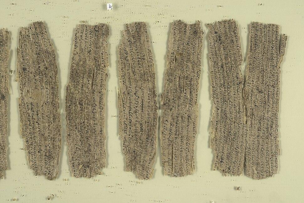 Fragmentary Buddhist text - Gandhara birchbark scrolls (1st C), part 31 - BL Or. 14915