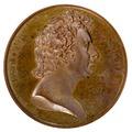 Framsida av medalj med Esias Tegner i profil, 1834 - Skoklosters slott - 99279.tif