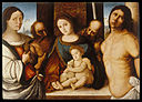 Francesco di Bosio Zaganelli - Madonna and Child with Saints - Walters 37581.jpg