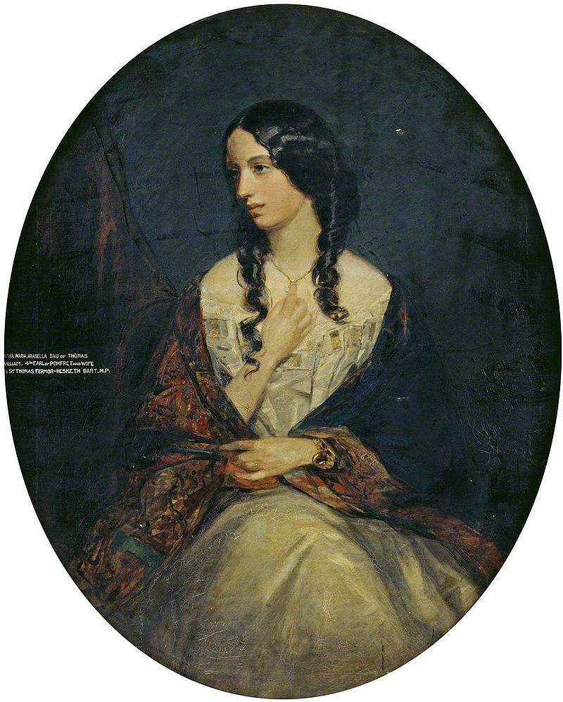 Фрэнсис Грант (1803-1878) - леди Анна Мария Изабелла (1828-1870), леди Хескет - 784677 - National Trust.jpg