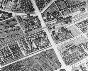 Frankfurt-Offenbach Local Railway - Old Sachsenhausen station in 1864