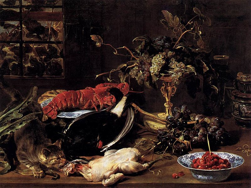 https://upload.wikimedia.org/wikipedia/commons/thumb/5/50/Frans_Snyders_-_Still-Life_with_Crab%2C_Poultry%2C_and_Fruit_-_WGA21510.jpg/800px-Frans_Snyders_-_Still-Life_with_Crab%2C_Poultry%2C_and_Fruit_-_WGA21510.jpg