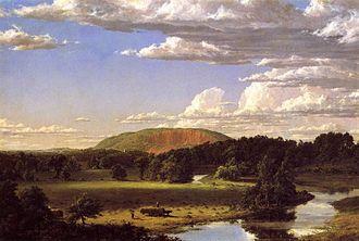 West Rock Ridge - West Rock, New Haven by Frederic Edwin Church, 1849