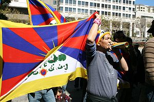 2008 Tibetan unrest - A Free Tibet rally outside the Chinese consulate in San Francisco, California, on March 17, 2008