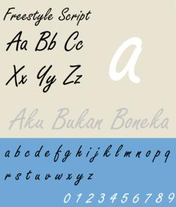 Forrasokszerkesztes Ugras Fel Freestyle Script Font
