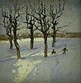 Fridolin Johansen - Winter Scene in a Suburb of Copenhagen - KMS3496 - Statens Museum for Kunst.jpg