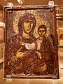 Front side of a double sided icon with the Virgin Hodegetria. 13th cent. at the Byzantine and Christian Museum on 12 April 2019.jpg