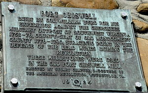 Fort Chiswell, Virginia - Ft. Chiswell plaque on the above Historic Marker.