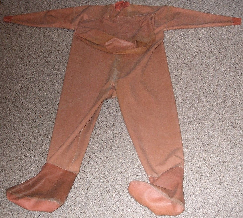 Full-Body Chest-Entry Wading Suit with Socks Wristseals and Neckseal