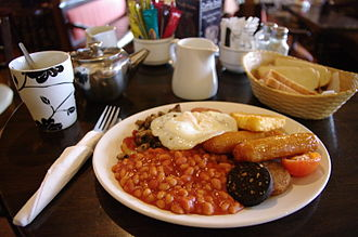 Full breakfast - A full Irish breakfast served in Cork