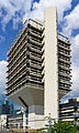 Funnel-shaped building in Frankfurt Niederrad Germany 2014 - 04.jpg