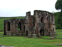 Photograph of the abbey of St Mary of Furness