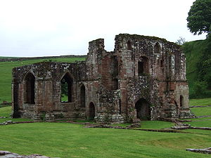 Óláfr Guðrøðarson (died 1153) - The ruinous abbey of St Mary of Furness. Óláfr forged close connections with the monks of this Lancashire religious house, and granted them the right to elect his Bishop of the Isles.