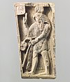 Furniture plaque carved in relief with a falcon-headed figure MET DP110708.jpg