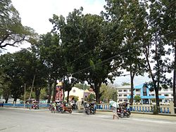 Aringay town center along the National Highway