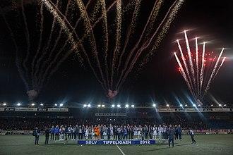 Strømsgodset Toppfotball - Fireworks over stadium