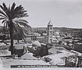 GENERAL VIEW OF THE OLD CITY OF JERUSALEM FROM THE NORTH, DOMINATED BY THE TOWER OF THE LUTHERAN CHURCH IN THE MURISTAN AREA. (COURTESY OF AMERICAN COD826-113.jpg