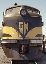 The front end of GM 103 at Railfair, California, in 1991
