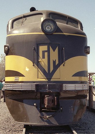 EMD FT - The nose of EMD 103 at the California State Railroad Museum in 1991